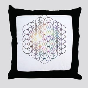 Flower of Life [Blue Star Cluster] Throw Pillow